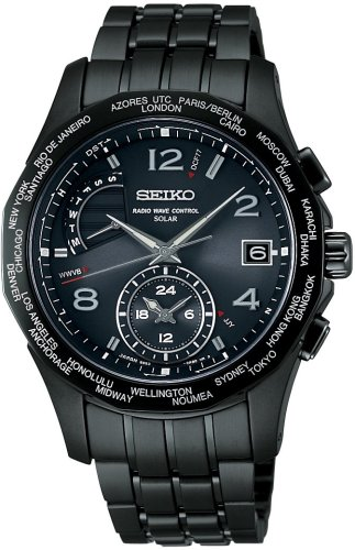 SEIKO (セイコー) 腕時計 BRIGHTZ ブライツ ワールドタイムソーラー電波時計 SAGA009 メンズ