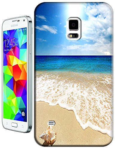 Cell Phone Case Beach Design Beautiful Sunshine Water Trees For Samsung Galaxy S5 I9600 No.3 front-115699