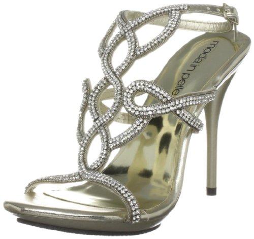 Moda In Pelle Women's Senorita Champagne Special Occasion Heel Sen01 4 UK