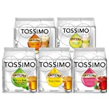 Tassimo Time Tea Set: Earl Grey, Green Tea, Blueberry and Raspberry Tea, Chai Latte, Chai Latte Lemongrass, 5 x 16 T-Discs