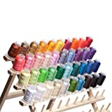 40 Spools Polyester Embroidery Machine Thread for Brother HE 1 Embroidery Machine