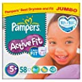 Pampers Active Fit Size 5+ (13-27kg) Jumbo Pack�58 per pack