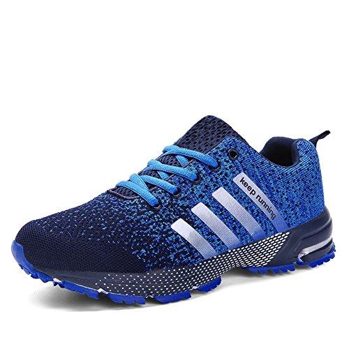 Uomo Donna Scarpe Da Sportive Running Basket Sneakers Estive Blu 42