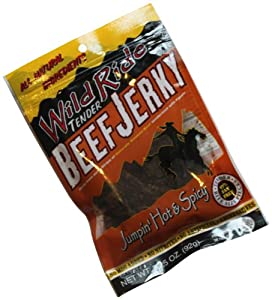 Wild Ride Tender Beef Jerky Jumpin Hot And Spicy 325-ounce Bags Pack Of 6 from Wild Ride Tender Beef Jerky