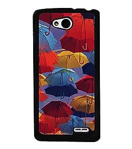 Colourful Umbrellas 2D Hard Polycarbonate Designer Back Case Cover for LG L90