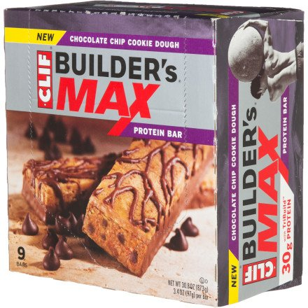 Clif Max Chocolate Chip Cookie Dough Bars, 9 Pk