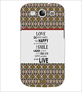 PrintDhaba Quote D-3226 Back Case Cover for SAMSUNG GALAXY S3 (Multi-Coloured)