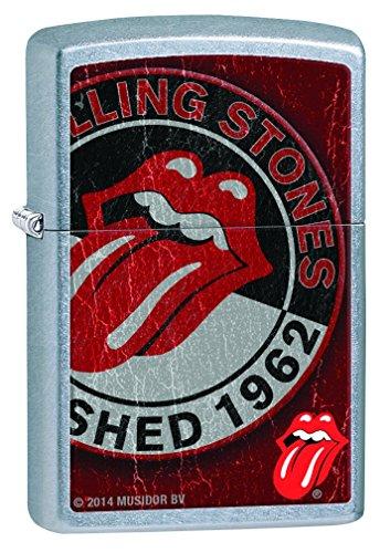 Zippo, Accendino, Acciaio Inox (Edelstahl), motivo: Rolling Stones