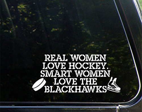 real-mujer-love-hockey-smart-mujer-love-the-blackhawks-8-3-4-x-3-3-4-die-cut-vinilo-adhesivo-bumper-