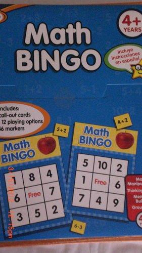 Active Minds Math Bingo - 1