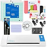 Silhouette Cameo Cutter Starter kit with Free Vinyl Starter Kit- Includes 2 Blades 2 mats, $50 Download Card, Squeegee, X-Acto Knife, and a Bonus Vinyl Starter Kit