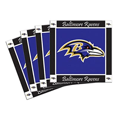 NFL mens 4-Pack Ceramic Coasters