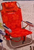 Tommy Bahama Backpack Cooler Beach Chair - Red/Orange