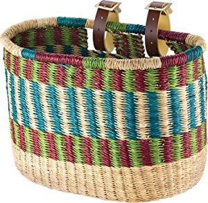 Buy House of Talents Oblong Bike Basket: Assorted Colors And Designs by House of Talents