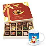 Colorful Assortment Of Pralines Chocolates With Christmas Mug - Chocholik Belgium Chocolates