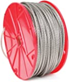 Koch 015021 Cable, 7 by 7 Construction, Trade Size 1/16 by 125 Feet, Stainless Steel