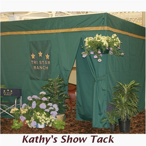 Horse Stall Drape Front Show Curtain Pakage, Black