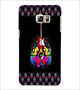 PrintDhaba Guitar D-4607 Back Case Cover for SAMSUNG GALAXY NOTE 5 EDGE (Multi-Coloured)