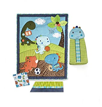 Cool Kids Line Dino Sports Piece Crib Bedding Set