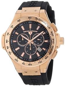 Swiss Legend Men's 40051-RG-01-R Maverick Chronograph Black Dial Black Silicone Watch