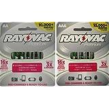 Rayovac Platinum Pre-Charged NiMH AA AAA Battery Combo Deal 4 x AA 4 x AAA