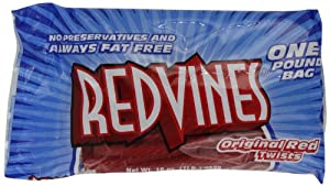 Red Vines Original Red Twists, 16-Ounce Bags (Pack of 12)