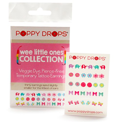 Wee Little Ones Collection - Veggie-Based Temporary Tattoo Earrings. Safe, Non-Toxic Ear Piercing Alternative. - 1
