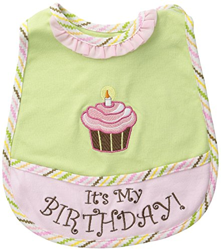 Stephan Baby It's My Birthday Bib with Pink Cupcake, Birthday Girl