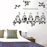 Bling2Bling 【Owl Family】Home Decor Waterproof Wall Sticker Vinyl Reusable Wall Decal/Wallpaper