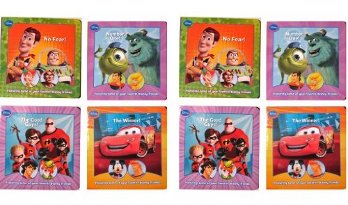 "Disney Pixar (2 Pack) Cars - Toy Story - Monsters Inc - Incredibles Board Books 4 Piece Set 4"" x 4"" - 1"