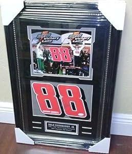 Autographed Earnhardt Jr. Photograph - Jr # 88 Victory 8x10 Framed 28x18 JSA COA... by Sports Memorabilia
