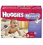 Huggies Little Movers Diapers, Size 3, 124-Count