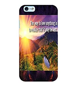 ColourCraft Beautiful Image with Quote Design Back Case Cover for APPLE IPHONE 6