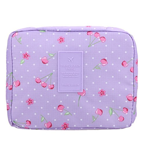 LAZYMARTS Portable Toiletry Cosmetic Bag Waterproof Makeup Make Up Wash Organizer Storage Pouch Travel Kit Handbag