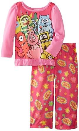Komar Kids Little Girls'  Yo Gabba 2 Piece Pajama Set, Pink, 4T