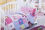 Eymen Baby Barcos Juego de funda nórdica (100x 150cm), color rosa _ _ _ _ _ _ _ _ _ _ PARENT multicolor rosa Talla:100 x 150 cm