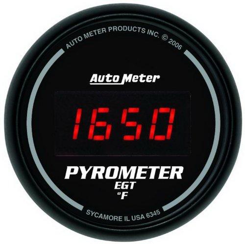 Auto Meter 6145 Cobalt Full Sweep Electric Pyrometer Gauge