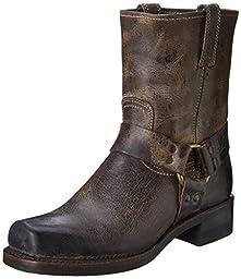 FRYE Men\'s Harness 8R Boot,Chocolate-87402,10 M US