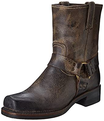 FRYE Men's 8R Harness Boot,Chocolate-87402,7 M US