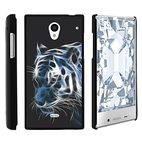 Sharp AQUOS Crystal Phone Case, Slim Hard Shell Snap On Case with Custom Images for Sharp AQUOS Crystal 306 SH (Sprint, Boost Mobile, Virgin Mobile) from MINITURTLE | Includes Clear Screen Protector and Stylus Pen - White Tiger (Aquos Sharp Boost Mobile Phone compare prices)