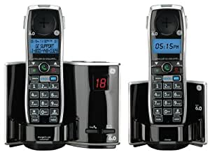 GE 28821FE2 Dect 6.0 Digital Cordless Phone and Digital Answering System Featuring GOOG-411 with 2 Handsets