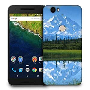 Snoogg White Mountain Printed Protective Phone Back Case Cover For LG Google Nexus 6P