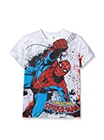Marvel Camiseta Manga Corta Spiderman Combat (Blanco / Multicolor)