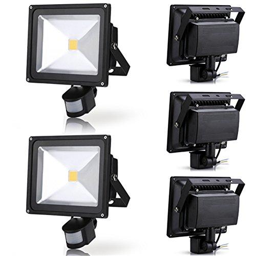 Generic 5Pcs 30W Warm White Led Induction Lamp Pir Motion Sensor Ip65 Outdoor Floodlight 85-265V