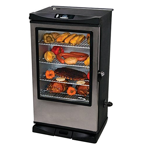 Buy Cheap Masterbuilt 20075315 Front Controller Smoker with Viewing Window and RF Remote Control, 40...