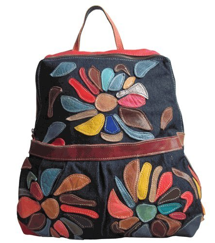 B00ABY4O3Y AmeriLeather Mini-Carrier Backpack (Rainbow)