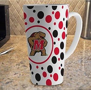 Buy NCAA Maryland Terrapins 16-Ounce White Latte Mug by The Memory Company