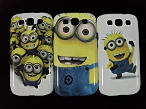 "3 X Despicable Me Minion Plastic Hard Case Skin For Samsung Galaxy S3 I9300 (Package includes: 1 X Screen Protector and 1X Stylus Pen image""catgift_store"")"