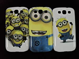 """3 X Despicable Me Minion Plastic Hard Case Skin For Samsung Galaxy S3 I9300 (Package includes: 1 X Screen Protector and 1X Stylus Pen image""""catgift_store"""")"""
