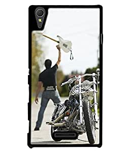 Crazymonk Premium Digital Printed Back Cover For Sony Xperia T3